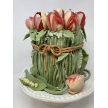 Торт Букет тюльпанов  на 8 марта