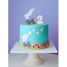 Торт на 2 годика для мальчика