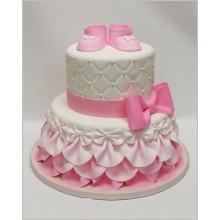 Торт для новорожденной розовый