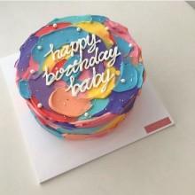 Торт разноцветный праздничный