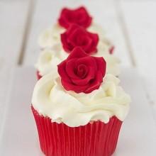 Маффины классические с розами