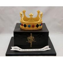 Торт для мужа с короной