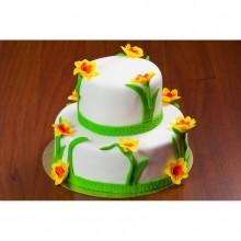 Торт весенние цветы на 8 ое марта