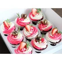 Вкусные капкейки с ягодами