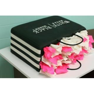 Торт подарочная сумка с цветами