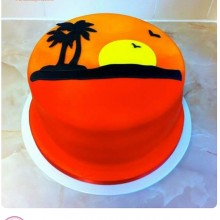 Торт солнце,море, пляж