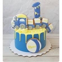 Торт паравозик для мальчика