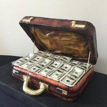 Торт для мужа деньги