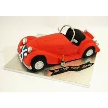 Торт красная машина