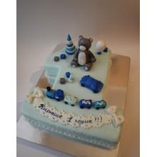 СМ 2 торт с медвежонком 1 годик