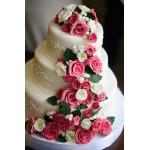 СВ 800 Торт свадебный в цветах