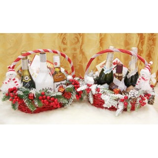 НП 5 Новогодние корзины с конфетами