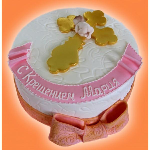 Надпись с крестинами на торт