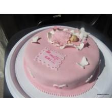 СМ 18 Торт новорожденная девочка