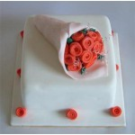 РМ 050 Торт с букетом цветов