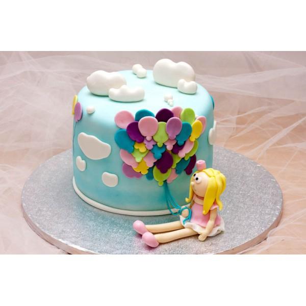 Торт с шариками рисунок