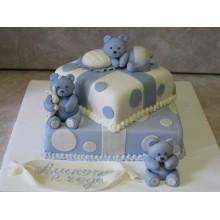 СМ 7 Торт многоярусный детский с мишками