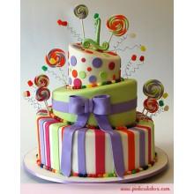 ПР 360 Торт с бантом разноцветные