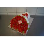 ПР 2 Торт букет из красных роз