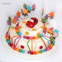 ДТ 145 Торт детский с красной машиной