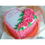 РМ 027 Торт розовое нежное сердце