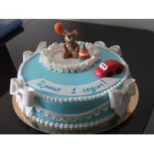 ДТ 200 Торт с медвежонком и с тачкиой