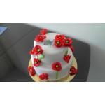 РМ 023 Торт двухярустный с цветами