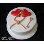 РМ 021 Торт ключ от сердца