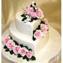 СВ 620 Торт свадебный в форме сердца два яруса