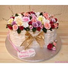 РМ 217 Торт корзина нежных цветов