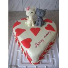 РМ 218 Торт влюбленные котята