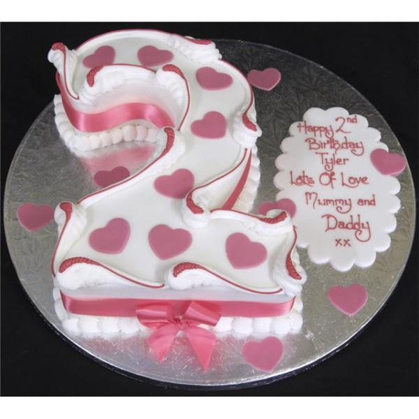 Торт на два годика девочке своими руками
