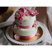 РМ 400 Торт многоярусный с цветами