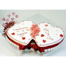 СВ 144 Торт свадебный два сердца