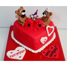 РМ 145 Торт романтическое свидание с мишками