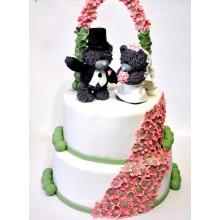 СВ 158 Торт свадебный с мишками Тедди