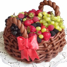 РМ 200 Торт корзина с фруктами