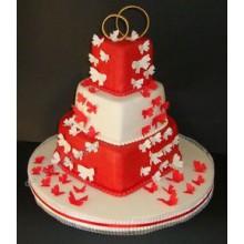 СВ 147 Торт свадебный три сердца