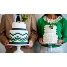 СВ 86 Торты свадебные нежно зеленые