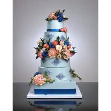 СВ 188 Торт свадебный в цветах