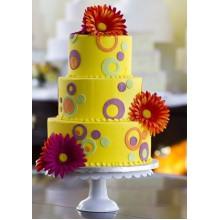 ПР 321 Торт праздничный желтый
