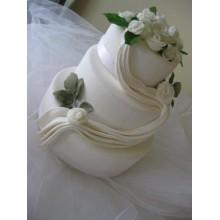 СВ 811 торт свадебный с белыми розами