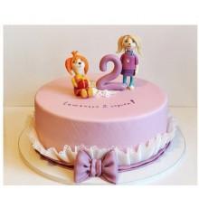 ДТ 413 Торт розовый Барбоскины