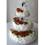 СВ 280 Торт свадебный трехярусный без мастики
