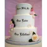 СВ 301 Торт свадебный белый с надписьями