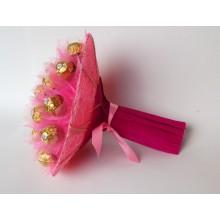 Б-71 Букет из конфет Сердце розовое