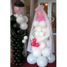 Ш-65 Фигурки жениха и невесты из шаров