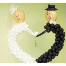 Ш-37 Фигурка из шаров любовь жениха и невесты