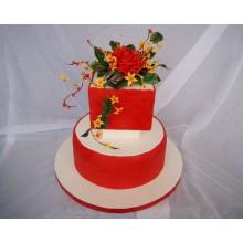 СВ 314 Торт красно-белый роскошный
