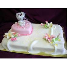 РМ 549 Торт свадебный с розлвым сердцем